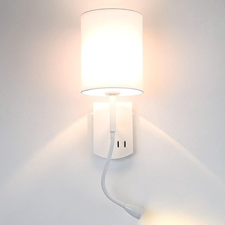StiefelU LED Wandleuchte nach oben und unten Wandleuchten Schlafzimmer Wand lampe Nachttischlampe hotel Wohnzimmer Studie Hintergrund Wand mit Schalter LED Lesen