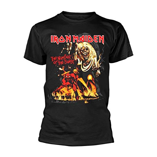 Unknown - Number of the Beast Graphic, T-shirt da uomo, Nero (Black), Large