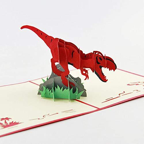 BC Worldwide Ltd handgefertigte 3D-Pop-up Geburtstagskarte jurassic Dinosaurier Baby Geburt Hochzeitstag Valentinstag Vatertag Muttertag Danke Halloween
