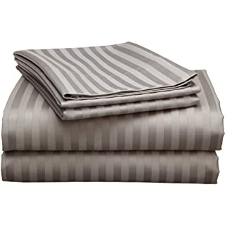 Echelon 800 Egyptian Stripe Queen Sheet Set, Pewter (B004IEBTOK) | Amazon price tracker / tracking, Amazon price history charts, Amazon price watches, Amazon price drop alerts