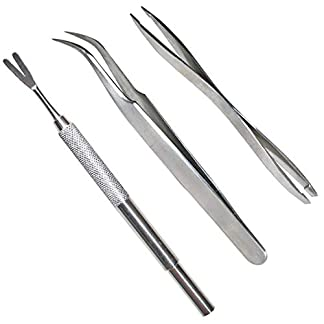 Acronde 3 Pack Tick Remover Tool Set Stainless Steel Tick Remover Kit for Cats and Dogs 18