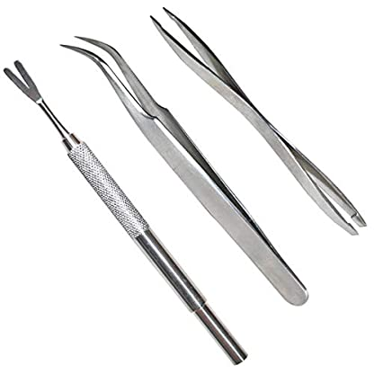 Acronde 3 Pack Tick Remover Tool Set Stainless Steel Tick Remover Kit for Cats and Dogs 1