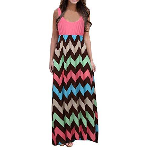 Review Of Summer Maxi Dress Respctful✿ Women Floral Printed Elegant Long Dress Sleeveless Tank Top...