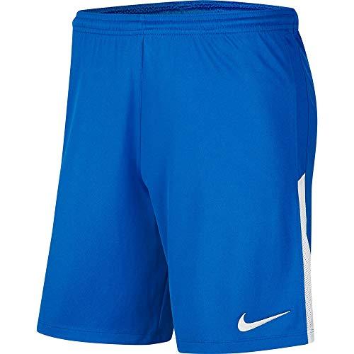 Nike Kinder Dri-Fit League Knit II Shorts, Royal Blue/White/White, L