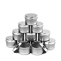 CandleScience 12 Piece Small Candle Tin, 4 oz