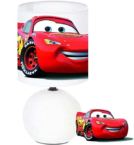 PRESENT Lampe de chevet CARS LIGHTNING MCQUEEN création artisanale. Personnalisé le prénom de l'enfant