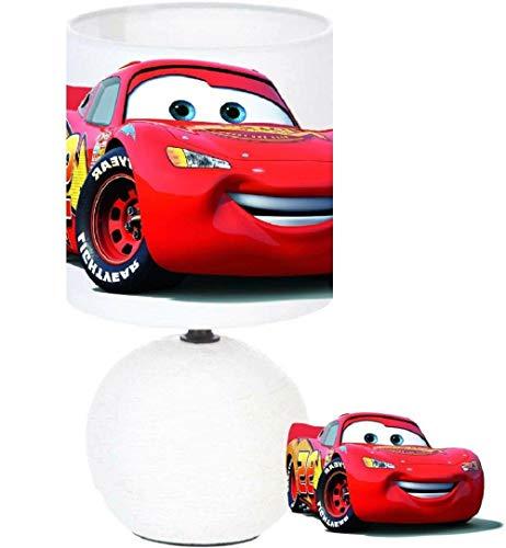 Lampe de chevet CARS LIGHTNING MCQUEEN création artisanale. Personnalisé le prénom de l'enfant