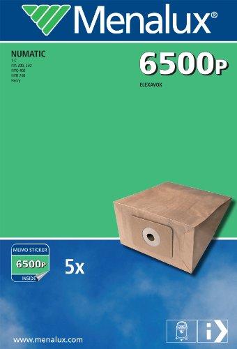 Menalux 6500 P, 5 stofzuigerzakken, papier, geschikt voor Numatic Henry