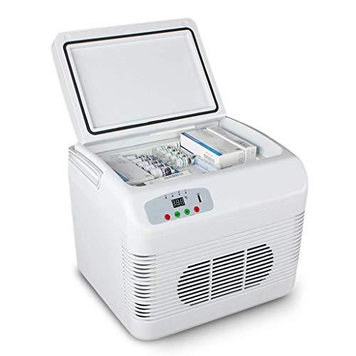 Tellgoy Refrigerador Portátil 12L, Mini Refrigerador De Nevera, Congelador, Almacenamiento De Vacunas contra La Insulina, Refrigeración O Calentador, Coche, Viaje A Casa, Camping, Picnic,White