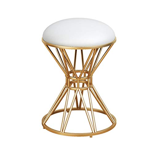 Calyvina Home Bellezza Sgabello Vanity Sgabello Dressing Table Sgabello Makeup Dressing Chair Sgabello Shoe Shoe (Rosso),White