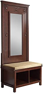 Coaster Home Furnishings Hall Tree with Mirror Umber and Tan
