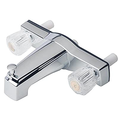 "Builders Shoppe 3310ACP Mobile Home Two Handle Non-Metallic 8"" Tub Shower Diverter Chrome Finish"
