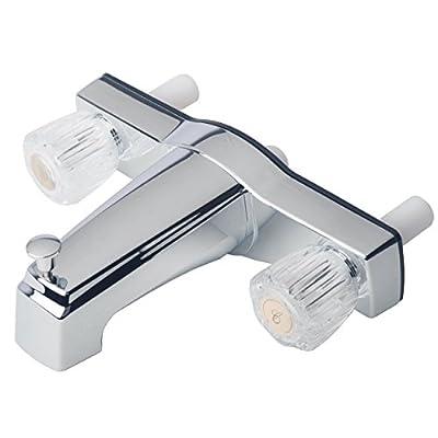 "Builders Shoppe 3310ACP Mobile Home Two Handle Non-Metallic 8"" Tub Shower Diverter Chrome Finish"