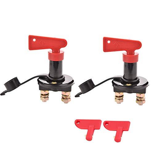 NUZAMAS 2 Stück 12 V / 24 V Batterie-Trennschalter Trennschalter Power Kill Master Schalter 2 Schlüssel für Auto LKW Boot RV Caravan