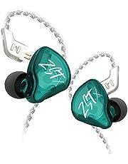 KZ ZSTX イヤホン 高音質 KZ イヤホン 1BA+1DD ハイブリッドイヤホン 重低音 イヤモニ カナル型 中華イヤホン 銀メッキ リケーブル