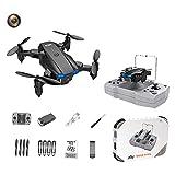 F Fityle KY906 Mini Drone Plegable 4K WiFi Retorno de una tecla 360 Rolling Auto Rotación Altitud Hold 3 Modos de Velocidad Sensor de Gravedad Drones de - Negro 1 Cámara 1B