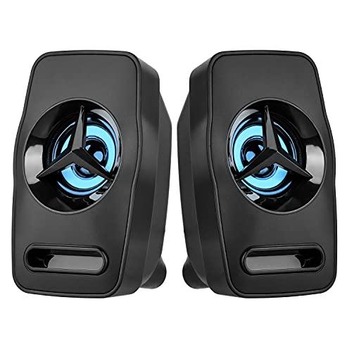 2.0 PC-Lautsprecher für Computer und Laptop, 6W, USB Powered Stereo Sound...