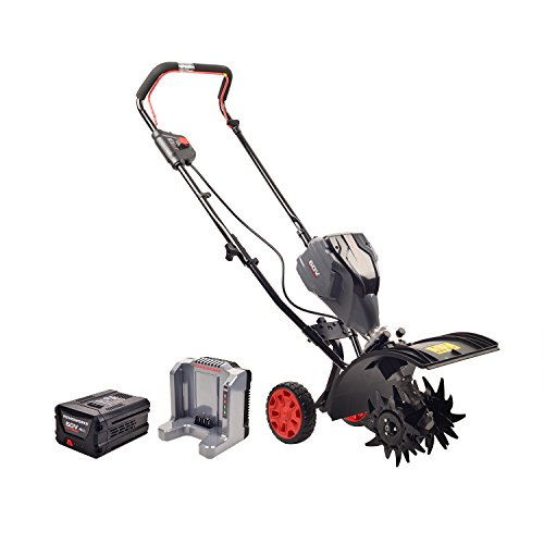 Powerworks TL60L2510PW 60V Brushless Tiller, 2.5Ah Battery and Charger Included