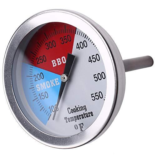 LilyJudy Termómetro de mano analógico de acero Bbq ahumador Pit Grill Termómetro Horno Alimentos Carne Temperatura Indicador Hogar Herramientas de cocina