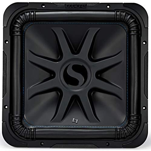 """KICKER L7S15 Car Audio Solobaric 15"""" Subwoofer Square L7 Dual 4 Ohm Sub 44L7S154 (Renewed)"""