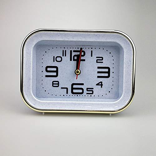LZDD Reloj Decorativo Color sólido Simple y Elegante de Noche Campana del Reloj de Aprendizaje de la t de Student rectángulo (Color : Blue)