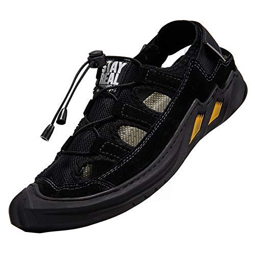 Sandalias de Verano Senderismo para Hombre Verano Playa Deportivas Zapatos Trekking Transpirable Zapatillas Ajustable Hebilla Strap Suede