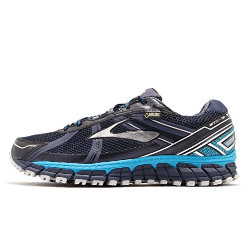 Brooks Men's Adrenaline ASR 12 GTX Trail Running Shoes Peacoat/AtomicBlue/Black Size 11 M US