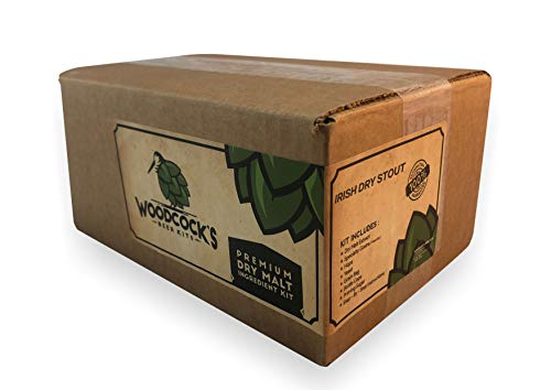2-Gallon Irish Dry Stout Beer Making Ingredient Kit - Complete Beer Brewing Kit Contains All Ingredients and Includes Bottle Caps - Our Kits are Made With Dry Malt Extract to Ensure Freshness