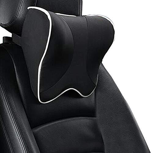 Minnesskum bil nackstöd kudde nackstöd kudde bilstol kudde lindra trötthet andningsbar avtagbar överdrag kudde Black A03