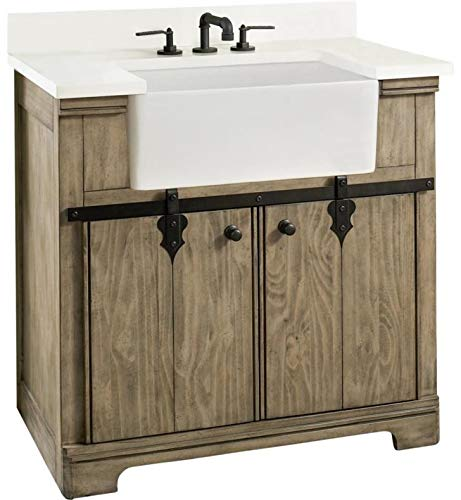 Fairmont Designs 1526-FV36 Homestead 36 Free Standing Single Bathroom Vanity with One Drawer in Windswept Pine