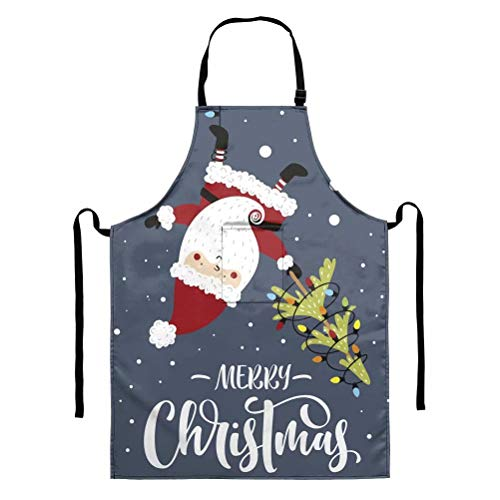GOSTONG Magic of Christmas Home Kitchen Aprons Women Dining Cooking Aprons Men Clearance Gardening Aprons BBQ Dress Aprons Unisex Adjustable Neck Strap and Pocket Apron Cleaning Tools Gifts