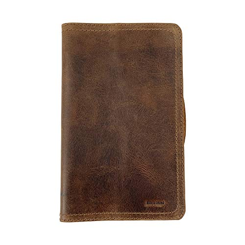 Hide & Drink, Rustic Leather Journal Cover for Moleskine Hard Cover Sketchbook Large Size (5 x 8.25 in.), Notebook NOT Included, Cahier Case, Handmade Includes 101 Year Warranty :: Bourbon Brown
