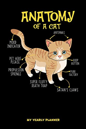 Anatomy Of A Cat My Yearly Planner: Anatomy Of A Cat Kitten Kitty Feral Yearly Planner 2020 2021 Daily Weekly Monthly Academic Planner & Organizer   ...   Class Shedule For Student Or Teacher