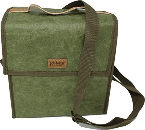 KeMar Kitchenware Lunchbox Tasche aus PE Papier   Kühltasche   Lunchtasche   Isoliertasche   Thermotasche   Bentobox Tasche   Bambus Grün   Wasserabweisend   Vegan   Recycelt   Nachhaltig