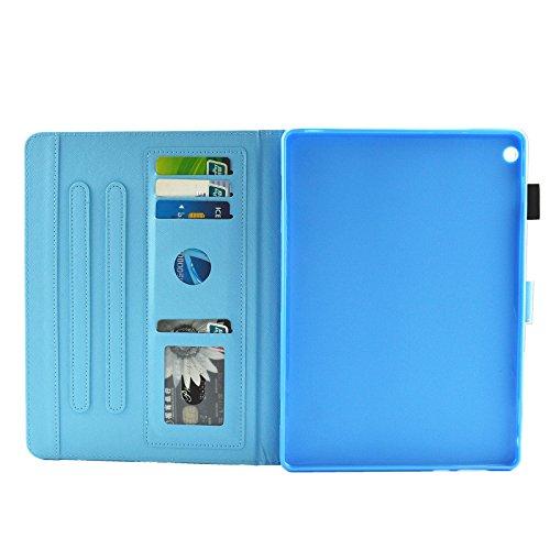 HUDDU Verträumter Schmetterling Schutzhülle für Huawei MediaPad M3 Lite 10 (10,1 Zoll) Hülle Flip Tasche Leder Smart Case Lightweight Cover mit Stand Kartenfach Magnetverschluss Notebook Lederhülle - 4