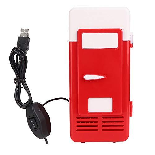 Yosoo Health Gear Refrigerador Compacto liviano, refrigerador pequeño, automóvil para Oficina(Red)