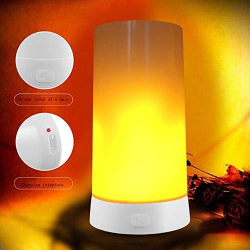 Lampe de table flamme LED, lampe décorative, USB de charge, portable aimant bar, restaurant bar hôtel créer une atmosphère rêveuse lumière de flamme LED, 5,*1