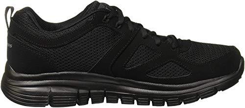 Skechers Herren Burns Sneaker, Schwarz (Black 52635-Bbk), 45 EU