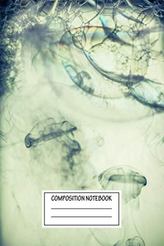Composition Notebook: Abstract Deep Sea Jellyfish Thank God For Electric Shisha As Th Up Close And Personal Wide Ruled Note Book, Diary, Planner, Journal for Writing