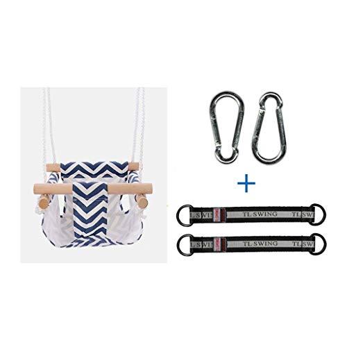 FYRMMD Columpio de Ocio Juguetes para niños Columpio para niños Interior y Exterior Bolsillos de Tela para el hogar Sw para bebés (Asiento de Columpio)