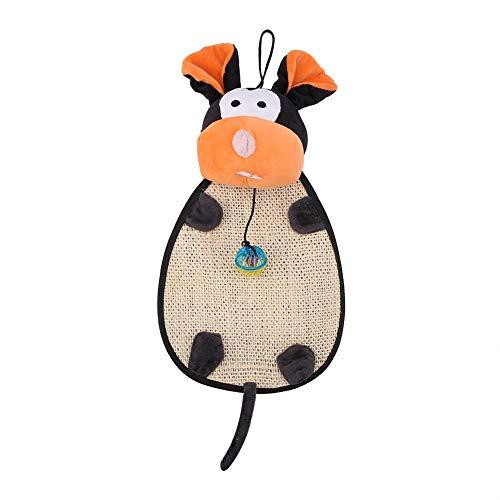 EVTSCAN Cat Scratcher Toy, Cartoon Cat Kitten Scratcher Toy Scratching Post Claws Mat Pad Interaktives Spielzeug(mice)