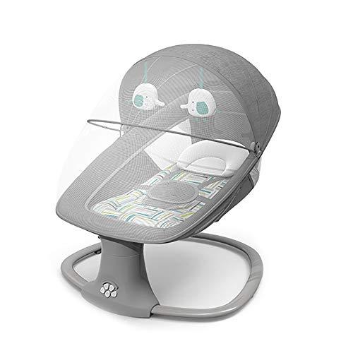 Fotel bujany dla dziecka 3 w 1, miękki i wygodny fotel bujany dla dziecka, inteligentny elektryczny bujak dla dziecka z Bluetooth, huśtawka z pięcioma biegami, z zegarem, z muzyką i zabawkami,B
