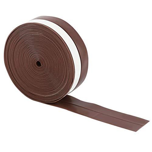 Yosoo 5m 25mm 流し台テープ ガスストーブ ギャップ 防汚 防塵 防水 隙間テープ プロフィール 自己接着 防寒窓ドアシール 戸あたり ホコリ侵入防止 ゴム テープ ドア 気密 窓 棚 スキ用テープ 強力接着剤 すきま風防止(5M-茶色)