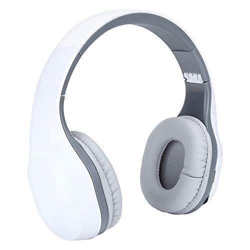 Cuffie wireless pieghevoli, Cuffie Bluetooth over-ear Cuffie stereo HIFI Cuffie sportive sopra la testa, Portata di connessione 10 m, Tempo di gioco 4 ore per tablet laptop smartphone(Grigio)