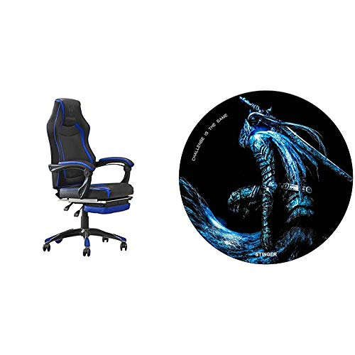 Woxter Stinger Station RX Blue - Silla Gaming + Alfombrilla Gaming de Suelo