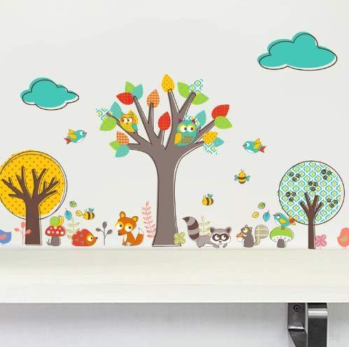 Nonebranded wandtattoo Dschungel Eule Baum Vogel DIY Baum Wandaufkleber Karton Poster Kinderspielzimmer Dekoration Kinder Baby Kinderzimmer Dekoration Home Dekoration 132 * 80cm