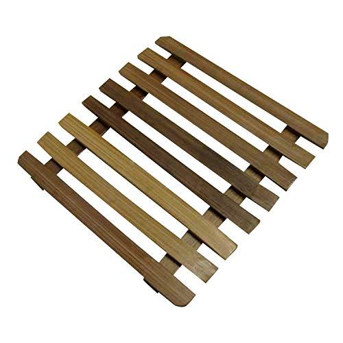 Land-Haus-Shop Bamboe tafelonderzetter 17,5 cm voor potten, pannen, tafel onderzetter onderlegger (LHS)