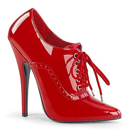 Devious Damen High Heel Pumps Domina-460 Lack rot Gr.45