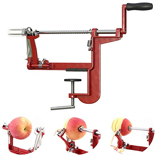 Apple peeler,Apple Peeler and Corer with 3 in 1 Slinky Machine Durable Heavy Duty Die Apple Peelers Mountable on Counter or Tabletop, Made In USA