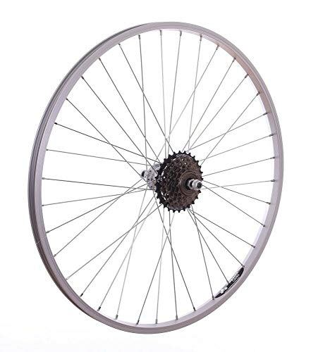 Baldwins 26' Alloy REAR Mountain Bike Wheel & 6 SPEED SHIMANO FREEWHEEL Bicycle MTB